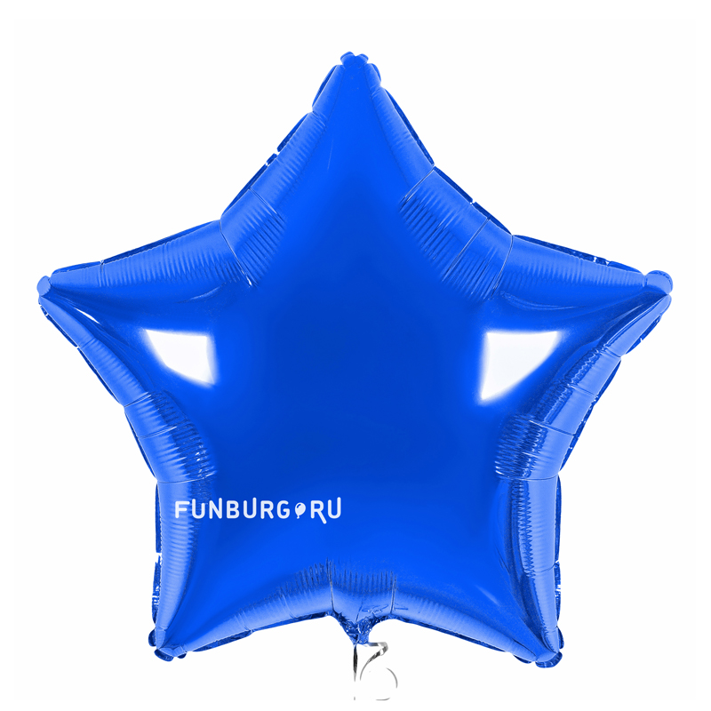 Шар из фольги «Синяя звезда»Из фольги без рисунка<br>Размер: 45 см (18)<br>Производитель: Flexmetal, Испания<br>