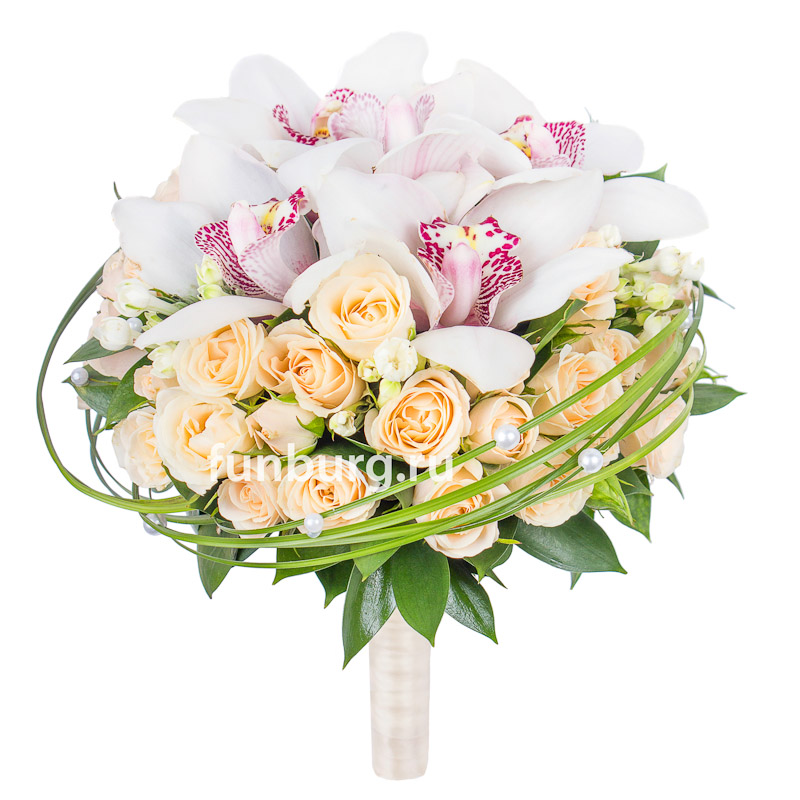 Букет невесты «Искренние чувства»Букеты невесты<br> <br>Диаметр:<br><br><br>20-23 см<br><br>