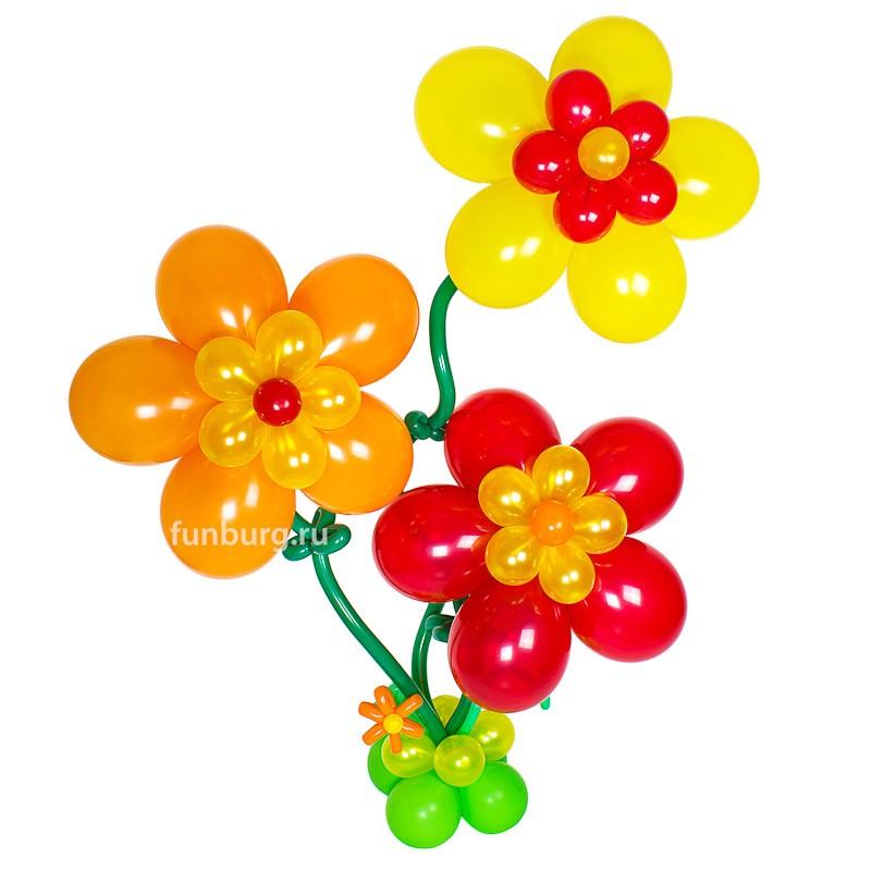 Фигура из шаров «Три цветка на ножке»Все фигуры<br>Размер: 200?80 см<br> Производство: Funburg.ru<br><br> Размер и цвет фигуры можно менять по дополнительному согласованию.<br><br>