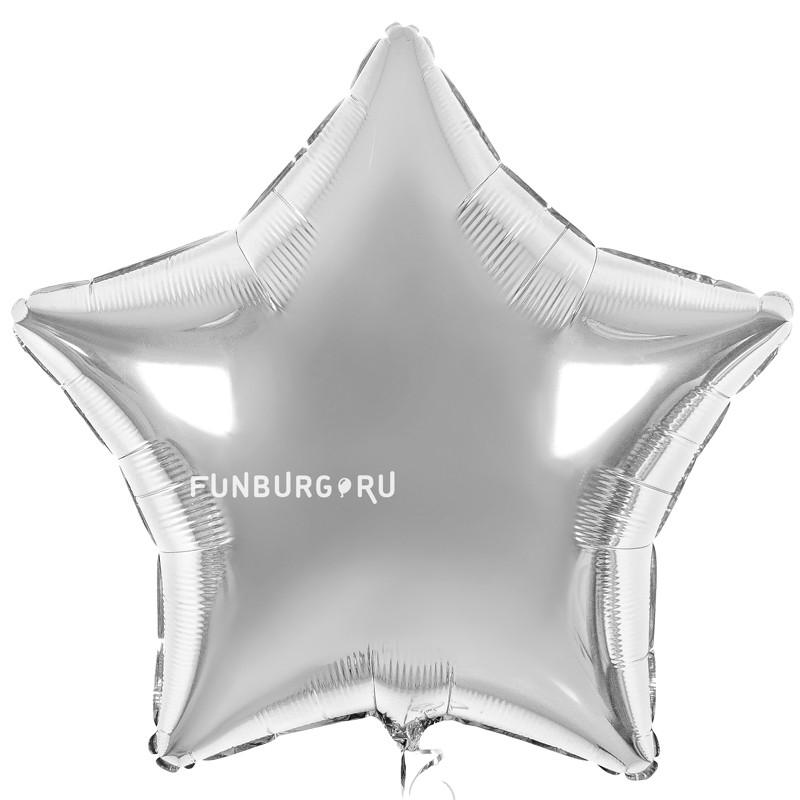 Шар из фольги «Большая серебряная звезда»Из фольги без рисунка<br>Размер: 81 см (32)<br>Производитель: Flexmetal, Испания<br>