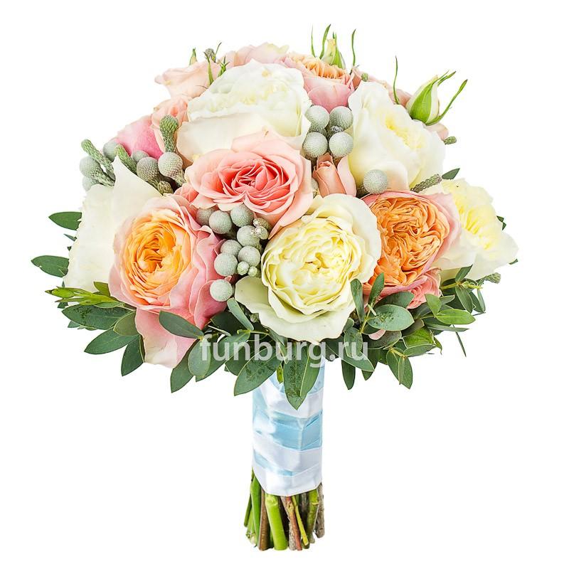 Букет невесты «Медовый месяц»Букеты невесты<br> <br>Диаметр:<br><br><br>20-23 см<br><br>