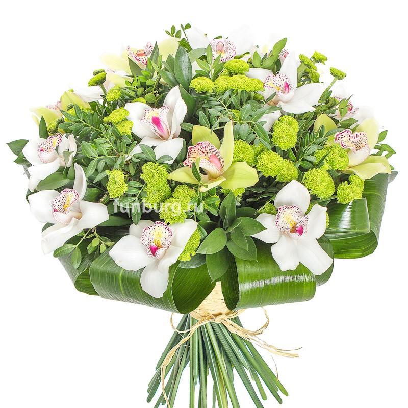 Букет «Магия цветов»с орхидеями<br><br>