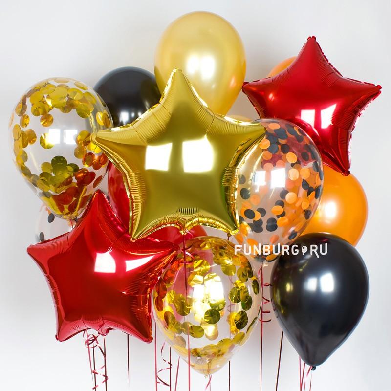 Набор шаров «Парад победы»Из фольги без рисунка<br>Вы можете корректировать количество шаров в наборе по своему желанию.<br>