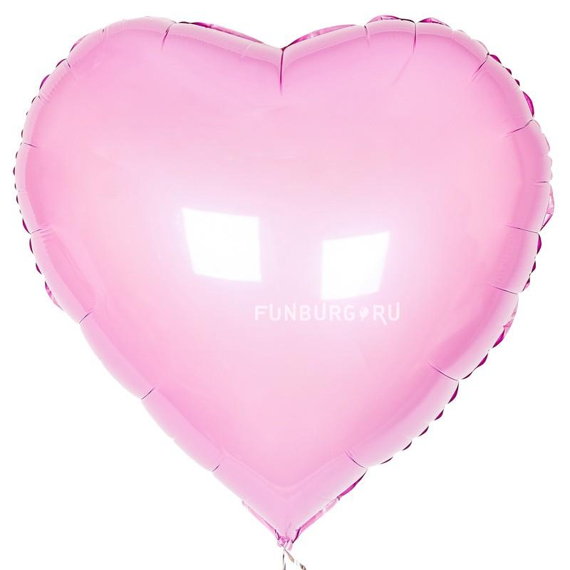 Шар из фольги «Большое розовое сердце»День святого Валентина<br>Размер: 81 см (32)<br>Производитель: Flexmetal, Испания<br>