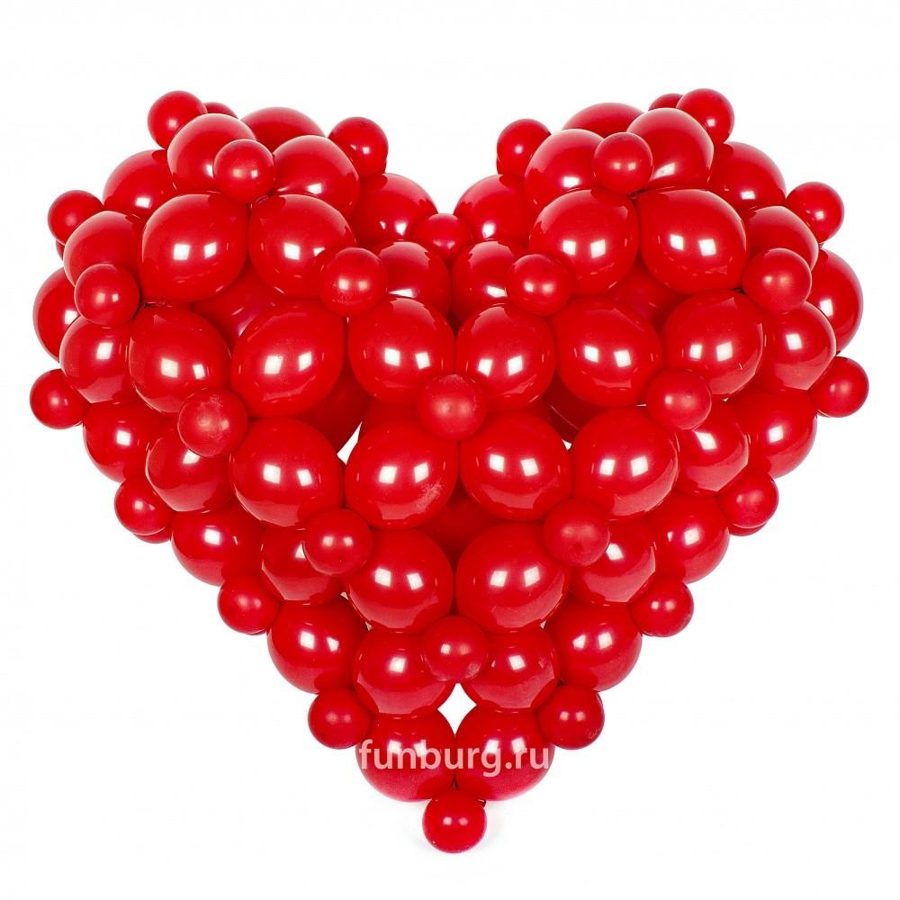 Фигура из шаров «3D Сердце»Все фигуры<br>Размер: 100?120 см<br> <br><br> Сердце может быть выполнено в другом цвете или размере, в зависимости от вашего желания! Консультируйтесь с операторами интернет-магазина.<br><br>