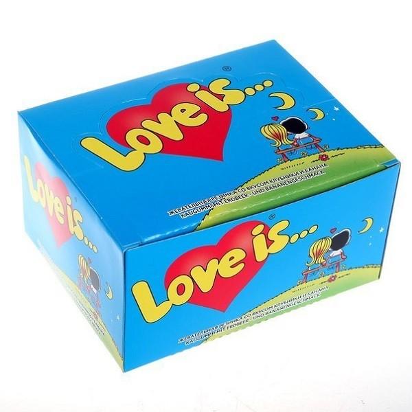 Жевательная резинка «Love is...» (клубника-банан)Сладости<br>Вкус: клубника-банан Количество конфет: 100 шт.Вес: 420 гРазмер: 13,5?10,5?7 см<br>
