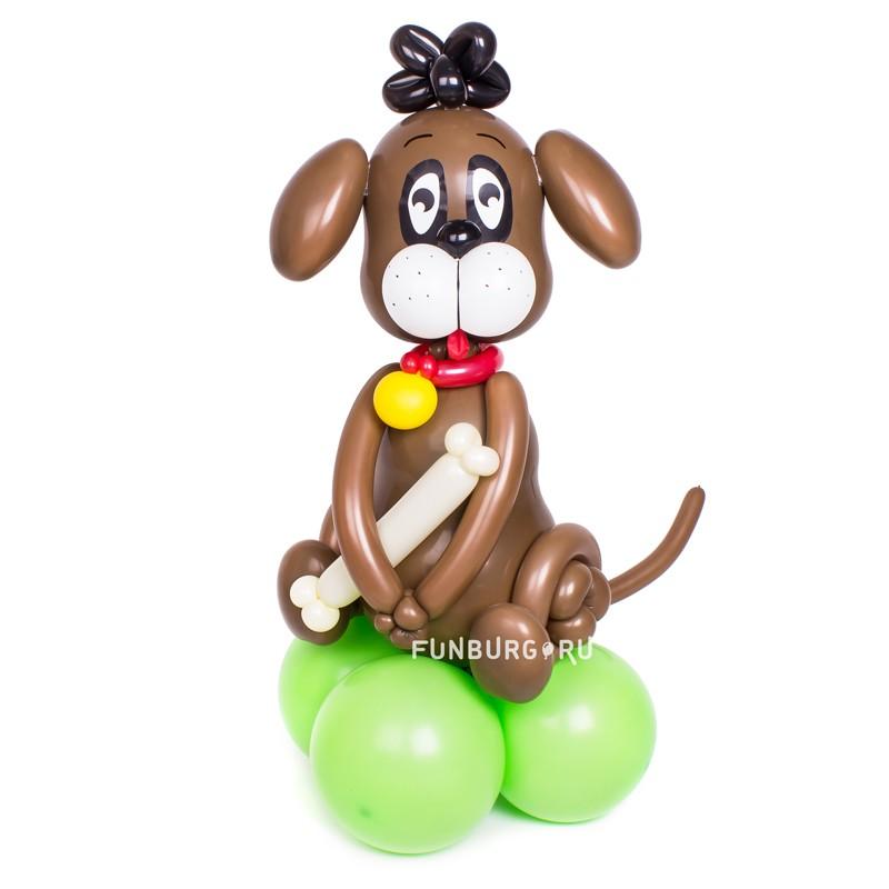 Фигура из шаров «Щенок»Все фигуры<br>Размер: 80-90 см<br> Производство: Funburg.ru<br>