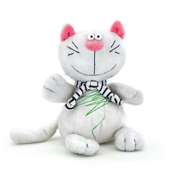 Мягкая игрушка «Белый кот Батон»Orange<br>Бренд: Orange exclusiveРазмер: 15 см<br>