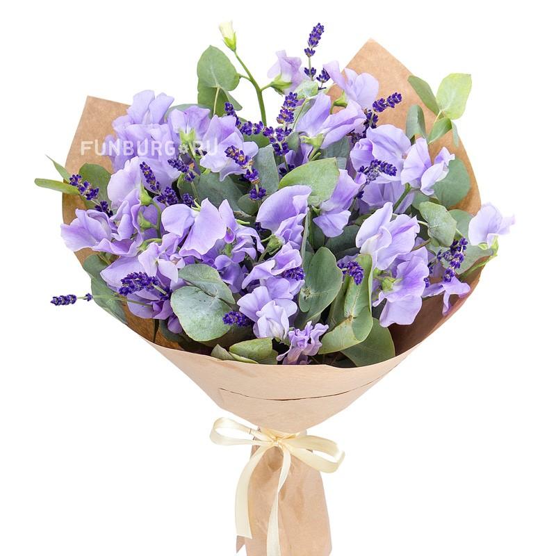 Букет «Ароматы Франции»с экзотическими цветами<br>Заказывайте заранее<br> <br>Размер:<br><br><br>высота30см, диаметр27см<br><br>