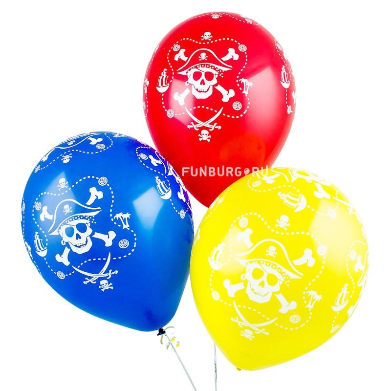 Воздушные шары «Пираты ассорти»Латексные с рисунком<br>Размер: 30 см (12)Производитель: Sempertex, КолумбияЦвет шаров: красный, синий, жёлтый, зелёный (пастель)<br>