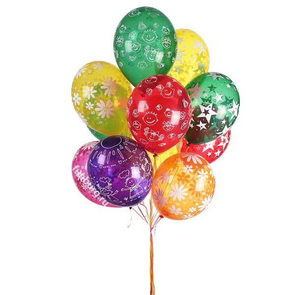 Букет из шаров «Радость»Наборы шаров<br>Состав: 11 шаров и грузик<br> Высота: 180 см<br>