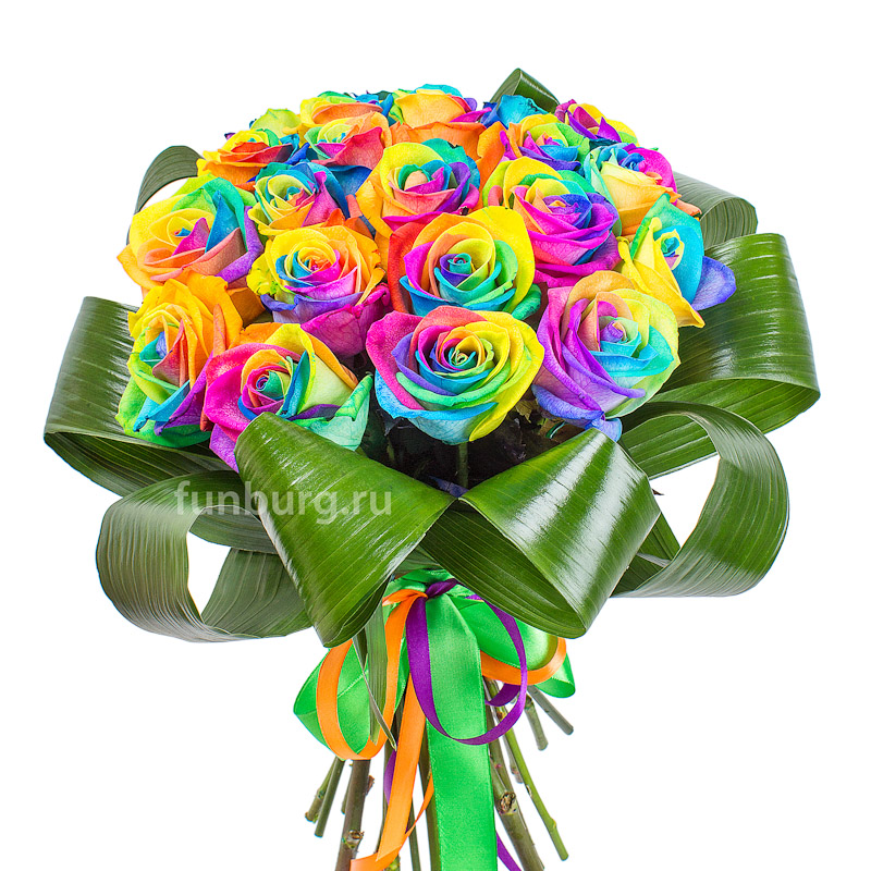 Букет радужных роз «Цветная мечта»Радужные<br><br>