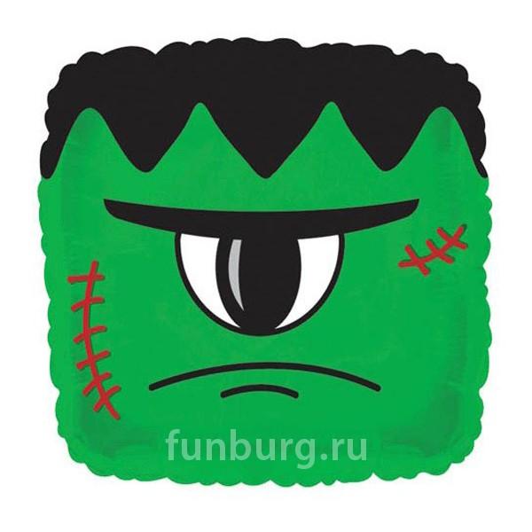 Шар из фольги «Зеленый монстр»Хэллоуин<br>Размер: 45 смПроизводитель: CTI, США<br>