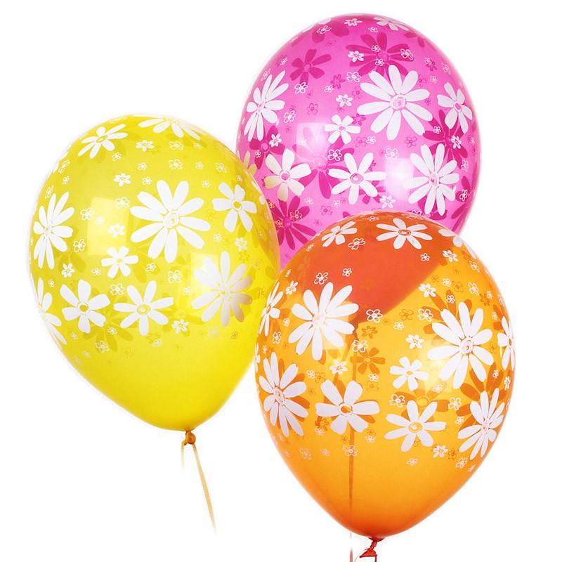 Воздушные шары «Ромашки»Летние шары<br>Размер: 35 см (14)Производитель: Belbal, Бельгия<br>